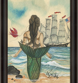 The Artwork of Kolene Spicher Mermaid with Tattoo Framed Print