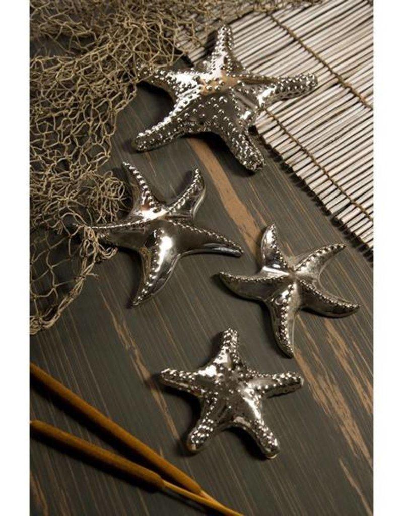Silver Starfish  Set of 2