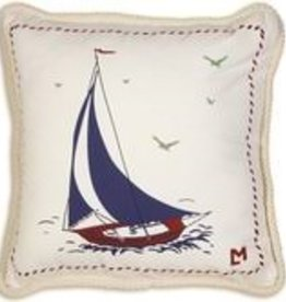 Chandlers 4 Corners 18 x 18 Sailboat Pillow