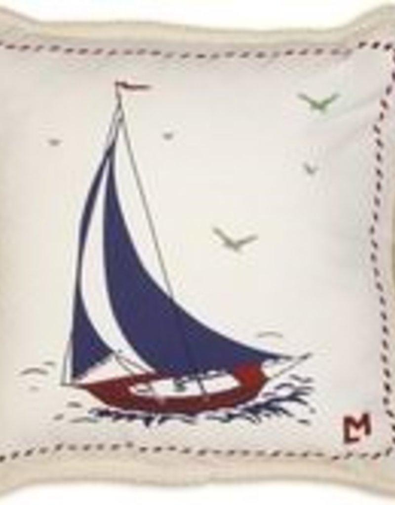 Chandlers 4 Corners 18 x 18 Sailboat Pillow