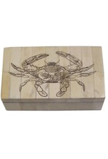 Blue Crab Scrimshaw Bone Box