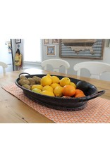 Large Black Oval Tray