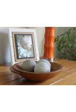 Washed Wood Spheres Set of 3