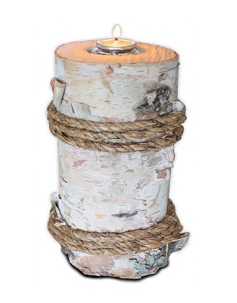 Genuine Birch Pillar Candle