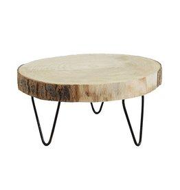Paulownia Wood Pedestal 9 inch Round