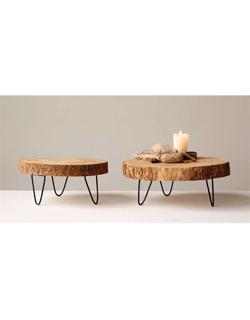 Paulownia Wood Pedestal 11 inch Round