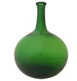 Green Spirit Bottle Blown Glass