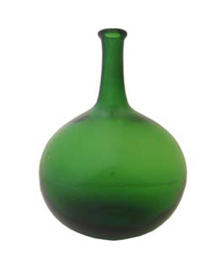 Green Spirit Bottle Blown Glass
