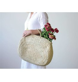 Hand Woven Jerada Oval Bag with Handle