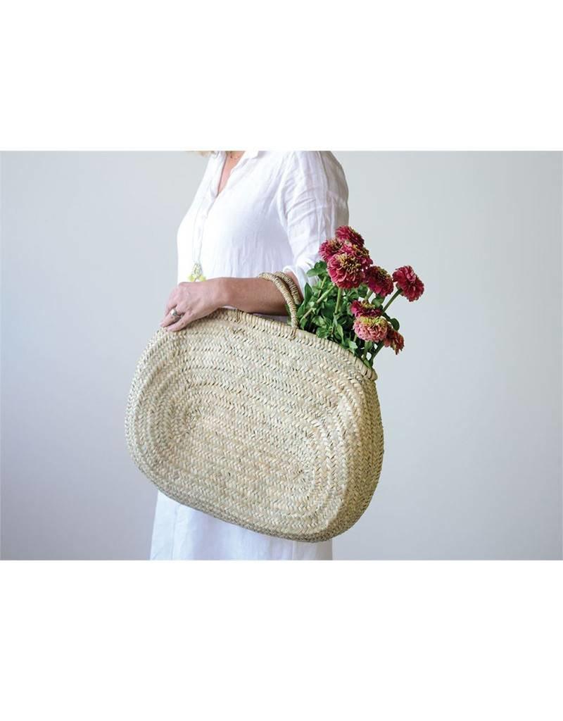 Hand Woven Jerada Oval Bag with Handle