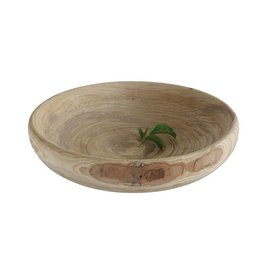 Decorative Round Paulownia Wood Bowl