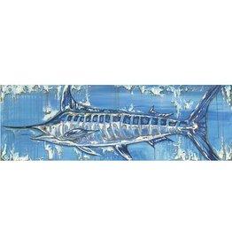 Red Bird Collective Art Blue Marlin Canvas Print