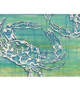 Red Bird Collective Art Blue Crab Canvas Print