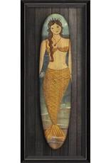 The Artwork of Kolene Spicher Miss Atlantic Mermaid Surfboard Framed Print
