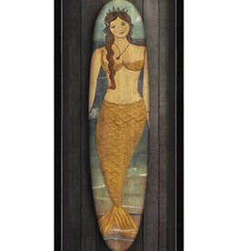 Miss Atlantic Mermaid Surfboard Framed Print