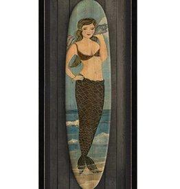 The Artwork of Kolene Spicher Love Song Mermaid Surfboard Framed Print