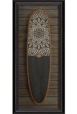Sun Medallion Surfboard Framed Print