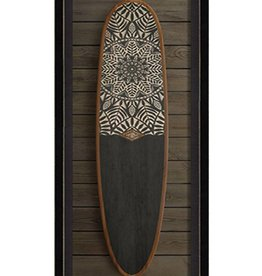 The Artwork of Kolene Spicher Sun Medallion Surfboard Framed Print