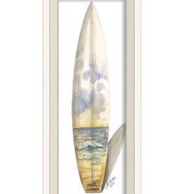 The Artwork of Kolene Spicher Sidney Australia Surfboard Framed Print