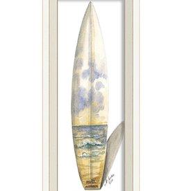 The Artwork of Kolene Spicher Sidney Australia Surfboard Framed Print