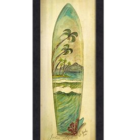 The Artwork of Kolene Spicher Palm Style Surfboard Framed Print