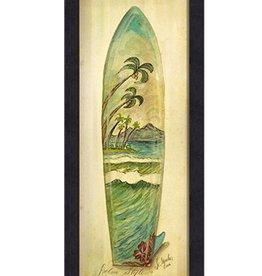 The Artwork of Kolene Spicher Palm Style Surfboard Framed Print