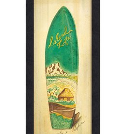 The Artwork of Kolene Spicher Island Life Surfboard Framed Print