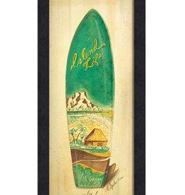 The Artwork of Kolene Spicher Island Life Surfboard Framed Print