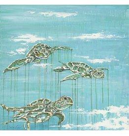 Red Bird Collective Art Baby Turtles Canvas Print