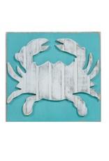 Grace Graffitti Distressed Wood Crab