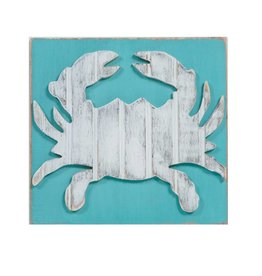 Grace Graffitti Distressed Wood Crab