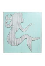 Distressed Wood Mermaid