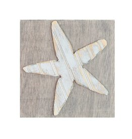 Grace Graffitti Distressed Wood Sea Star