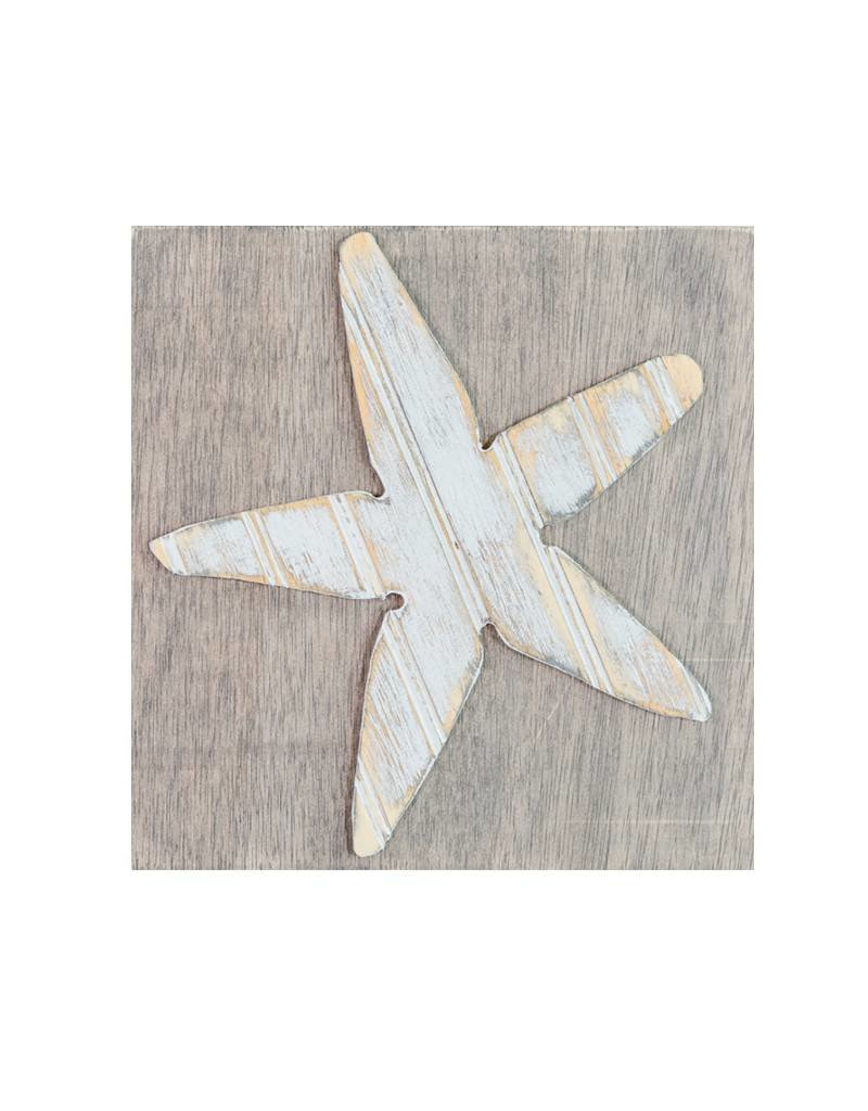 Distressed Wood Sea Star