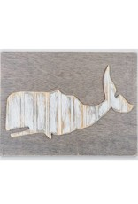 Distressed Wood Whale