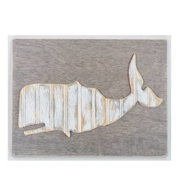 Grace Graffitti Distressed Wood Whale