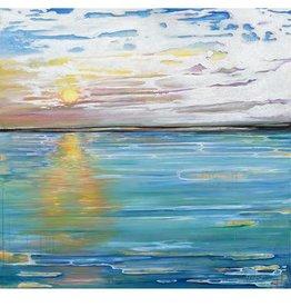 Red Bird Collective Art Galveston Sunset Canvas Print