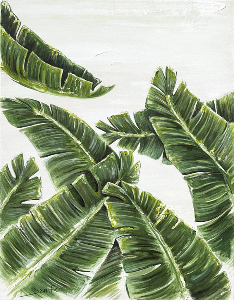 palm leaves 1 canvas print island style wall art squan trading