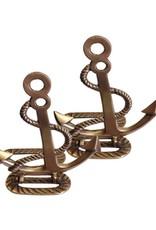 Brass Anchor Folding Bookends