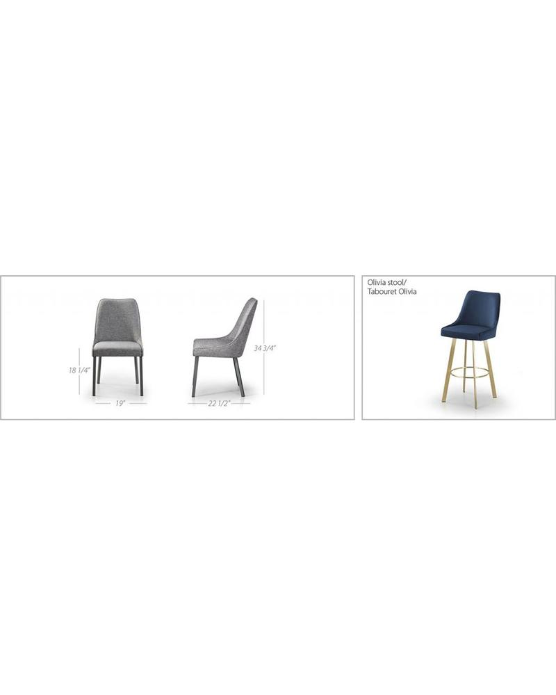 TRICA OLIVA CHAIR METAL LEGS