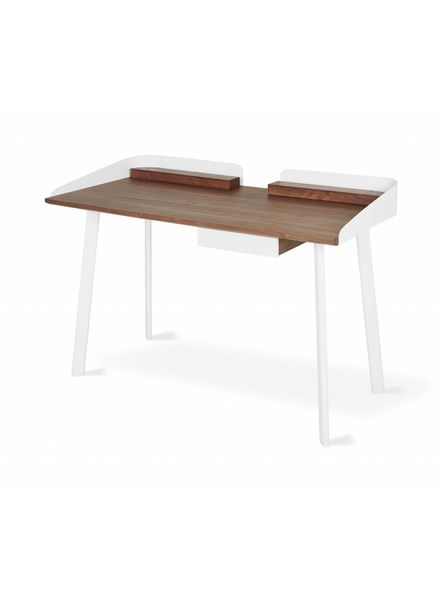 Gander Desk Walnut White