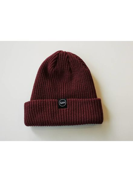 SAM DESIGN BRANDED TOQUE - BURGUNDY