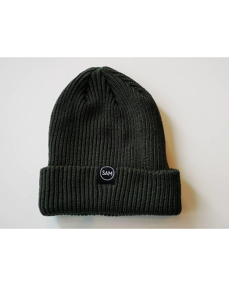 SAM DESIGN BRANDED TOQUE - OLIVE