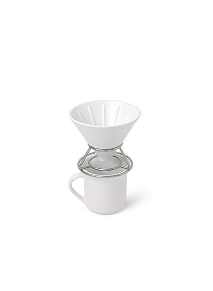 PERK COFFEE POUR OVER WHITE/ NICKEL