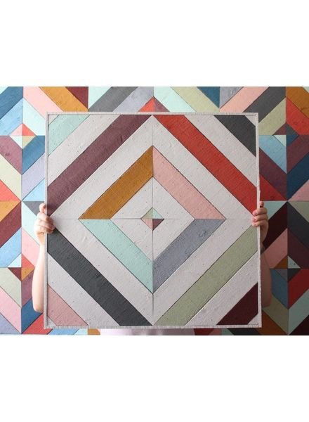 JESS WATERMAN - 2 X 2 WOODEN QUILT