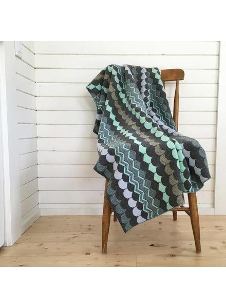 FOGO DONNA WILSON SHINGLE THROW BLANKET