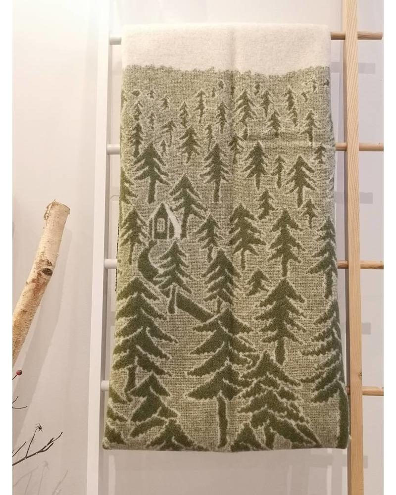 KLIPPAN HOUSE IN THE FOREST WOOL BLANKET