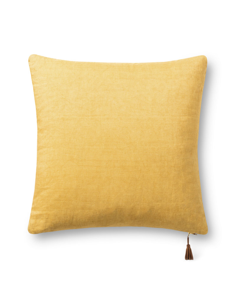 """LOLOI RUST / GOLD 22"""" PILLOW COVER"""