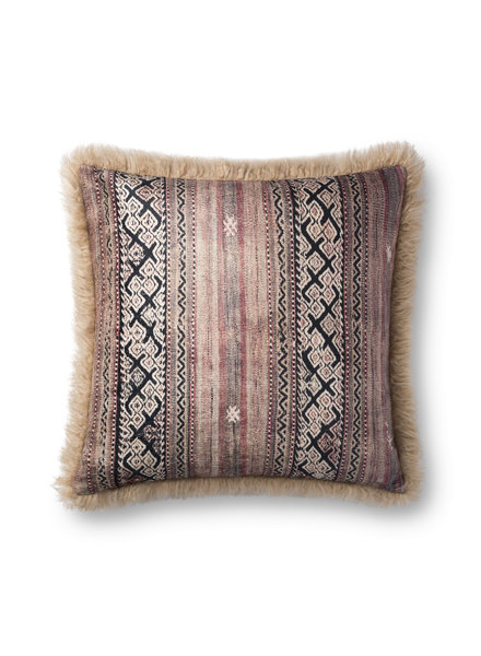 "LOLOI MULTI / BEIGE 22"" PILLOW COVER"