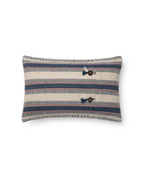 "LOLOI INDIGO / NATURAL 13"" X 21"" DOWN FILLED PILLOW"